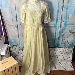 Gunne Sax yellow Dress